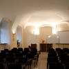 The room in the seminary where the first assembly in Wrocław met, now a law school classroom.