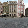 Stary Rynek or Old Market Place. On the left is the Punishment Post where public humiliations occurred. I guess if you are tied to the post and can't get to the ice cream, that would be a severe punishment.