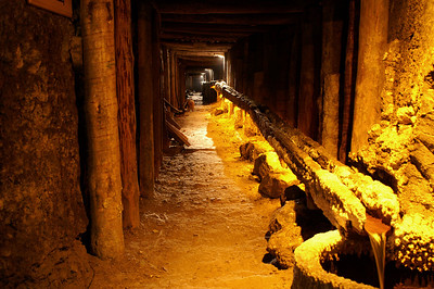 Tunnels in the salt mine