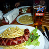 Kielbasa, Fries, Saurkraut and Beer, what more could you want?