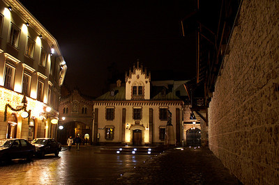 Krakau at night
