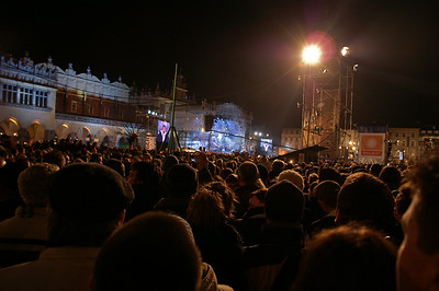 New Year's eve party on the main square