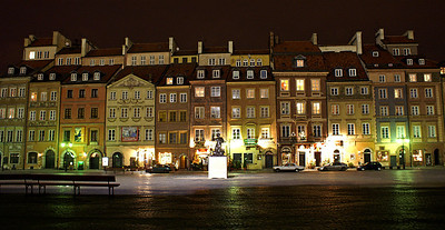 Starego miasto at night