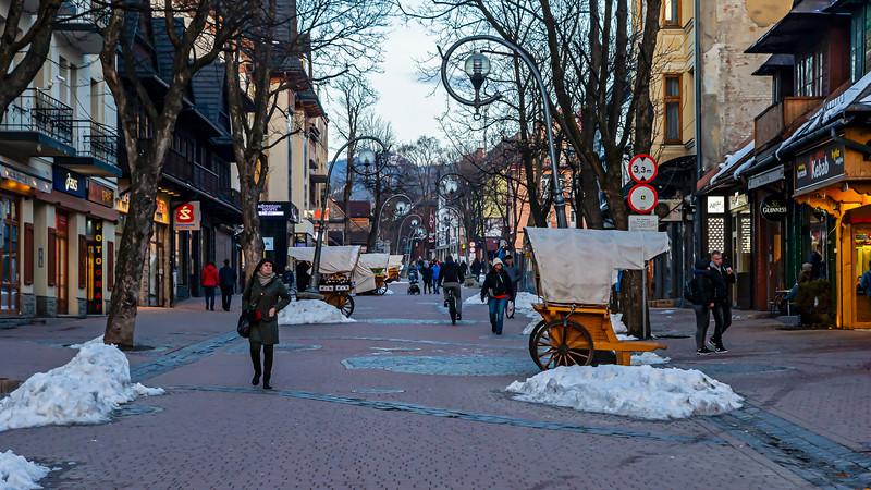 Main street Zakopane, Poland