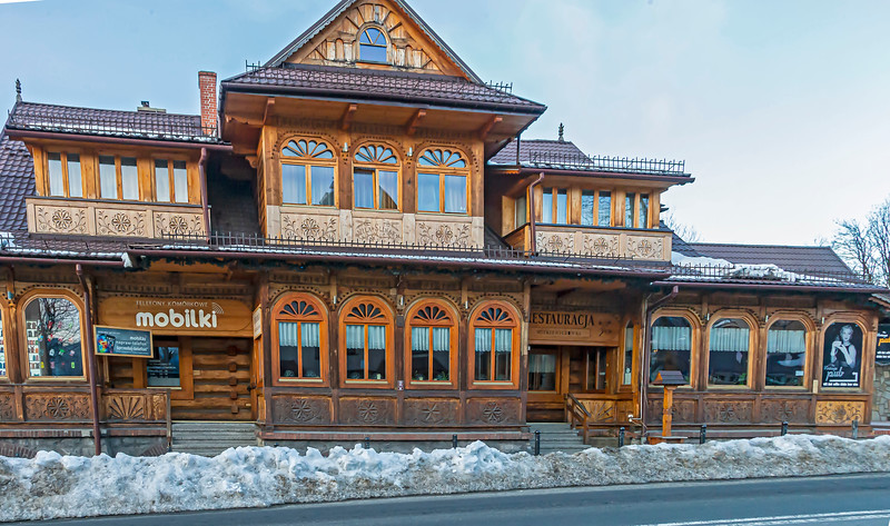 One, of many, nice wooden house in Zakopane city