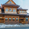 One, of many, nice wooden house in Zakopane city, Poland