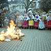 "Locals celebrating the death of ""grandmother"" Winter and welcoming Spring."