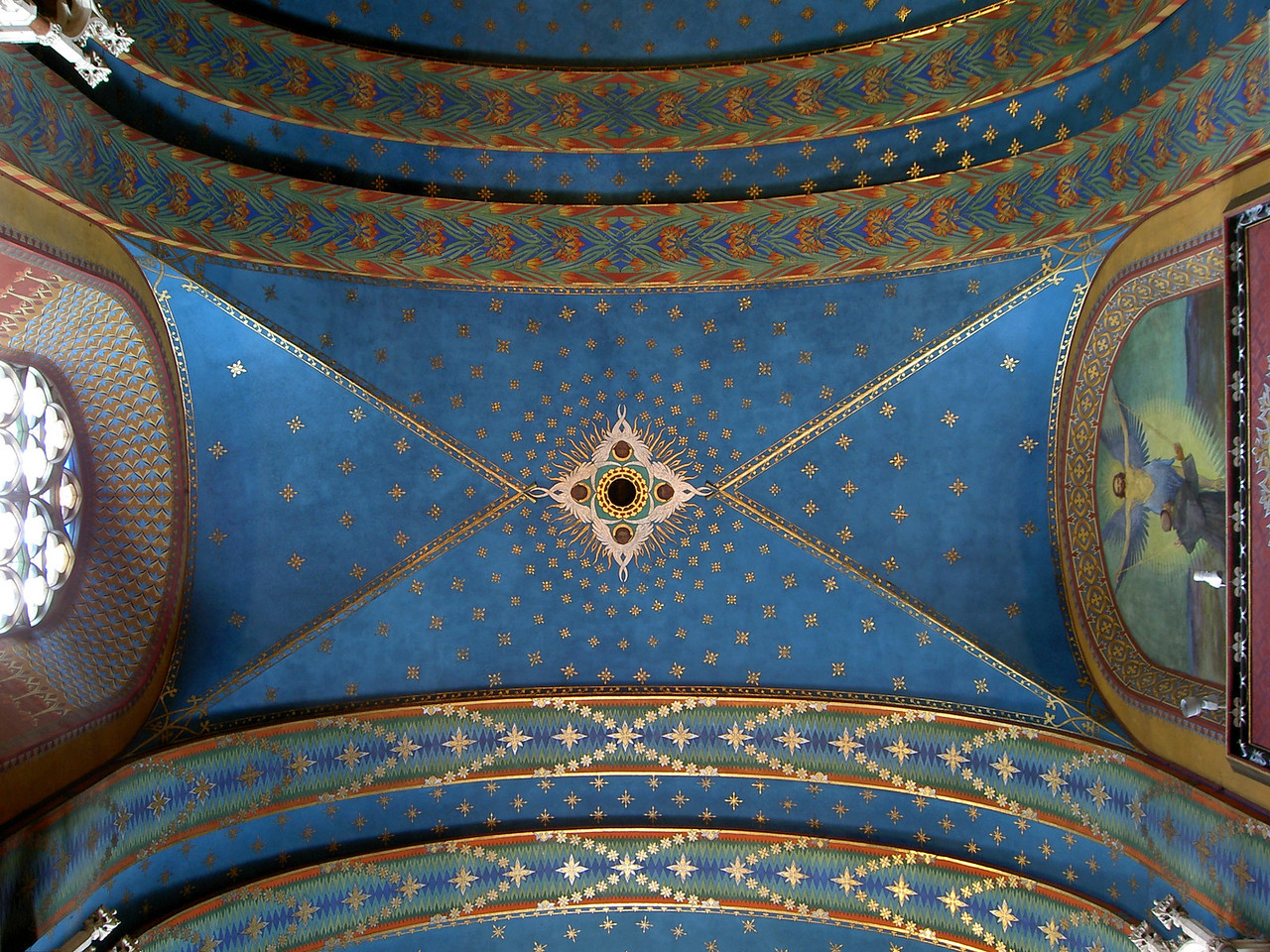 Ceiling of Franciscan church in Krakow