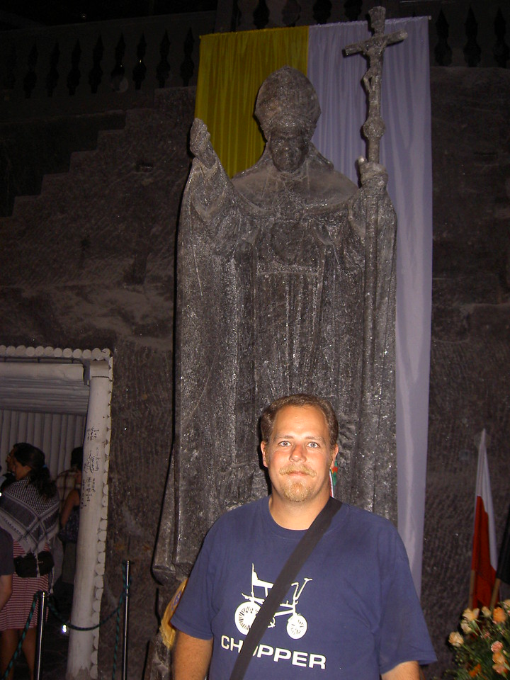 John Paul II in salt mine in Krakow