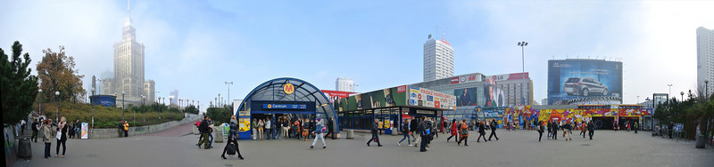 Centralna metro station near Palace of Culture