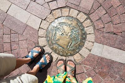 Standing on Earth at Kopernik monument
