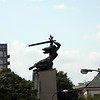 Nike monument the symbol of fighting Warsaw.