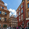 Old town of Warsaw, rebuilt after the second world war