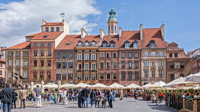 Old town of Warsaw, rebuilt after the second world war.