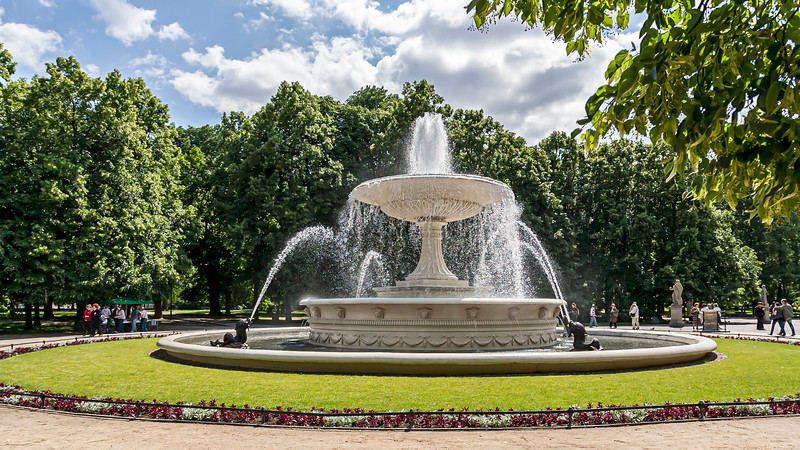 Fountain in the Saxon Garden Warsaw, Poland