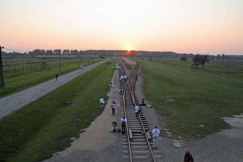 Train rails at Birkenhau extermination camp