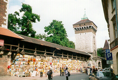 Artists market -- Krakow, Poland