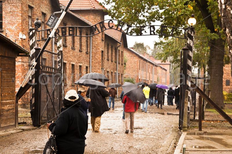 Entrance gate to Auschwitz