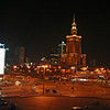General view  of Warsaw at night