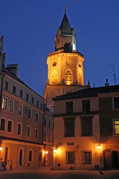 Lublin old city at night