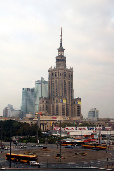 Warsaw in the morning
