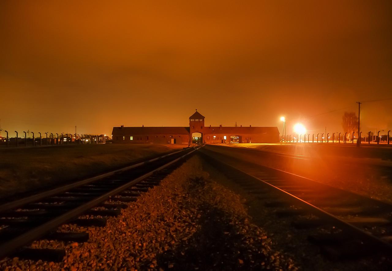 Auschwitz  at Night