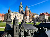 """OAT Trip/Poland-Lithuania-Latvia-Estonia-Russia/13 Sep-02 Oct 2016.  Krakow.  Wawel Cathedral.  In the foreground is a model of the cathedral and the real cathedral is in the background.<br /> <a href=""""https://en.wikipedia.org/wiki/Wawel_Cathedral"""">https://en.wikipedia.org/wiki/Wawel_Cathedral</a>"""