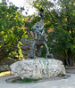 """OAT Trip/Poland-Lithuania-Latvia-Estonia-Russia/13 Sep-02 Oct 2016.  Krakow.  <br /> The Wawel Dragon (Polish: Smok Wawelski), also known as the Dragon of Wawel Hill, is a famous dragon in Polish folklore. His lair was in a cave at the foot of Wawel Hill on the bank of the Vistula River. Wawel Hill is in Kraków, which was then the capital of Poland.  Wawel Cathedral and Kraków's Wawel Castle stand on Wawel Hill.  In 1970 a metal sculpture of the Wawel Dragon designed by Bronisław Chromy was placed in front of the dragon's den.  It  breathes real fire every few minutes!<br /> <a href=""""https://en.wikipedia.org/wiki/Wawel_Dragon"""">https://en.wikipedia.org/wiki/Wawel_Dragon</a>"""