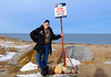 Natural Habitat Polar Bears Tour, Churchill, Manitoba, Canada-Nov 2016.  Hudson Bay in the background.