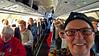 Natural Habitat Polar Bears Tour, Churchill, Manitoba, Canada/Nov 2016.  On the Charter flight enroute to Churchill.