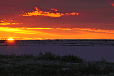 Sunset on the Tundra, Churchill. Manitoba