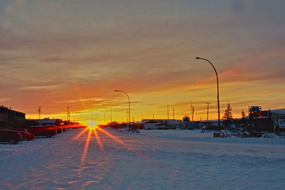 Sunrise in Churchill.