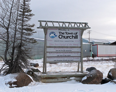 Churchill, Manitoba, the northern most port in Canada.  Located where the Churchill River meets the Hudson Bay