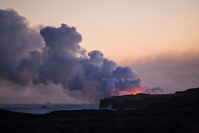 Seeing the earth created right in front of your eyes: Kilauea's lava flowing into the Pacific ocean.