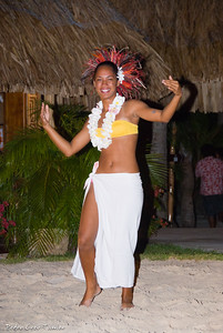 Hula dancer,Bora-Bora,Society Islands,French Polinesia