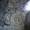 Bath Room Ceiling Frescos at Pompeii ruins in Italy.
