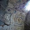 Bath Room Ceiling Frescos at Pompeii ruins in Italy.