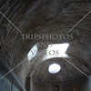 Ceiling inside a bath house at the Pompeii ruins in Italy.