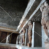 Columns inside a bath house at the Pompeii ruins in Italy.