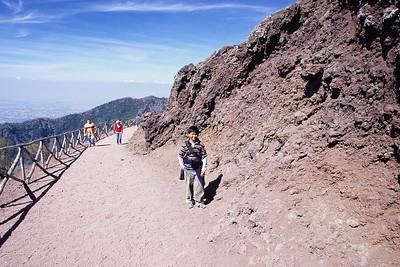 Somak on the way to Vesuvius