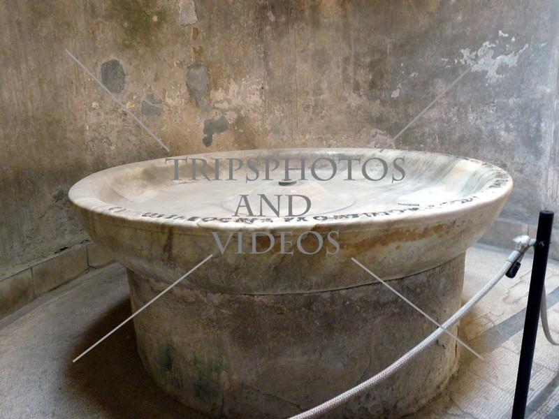 Bath Room in Pompeii, Italy.