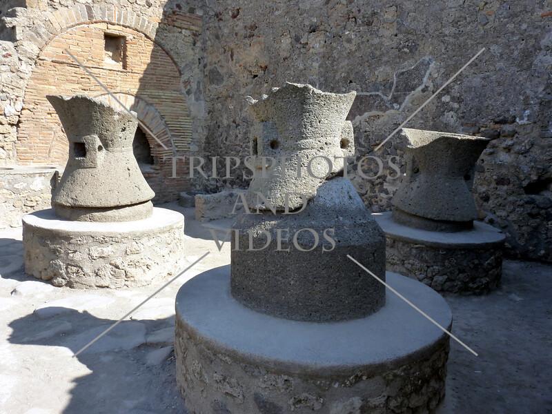 Pompeii ruins in Italy.