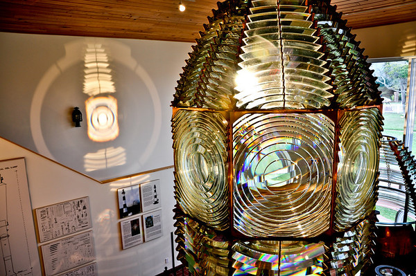 Invented by French scientist named Augustin-Jean Fresnel in the 1820s, the Fresnel Lens exhibited and also used on the tower.