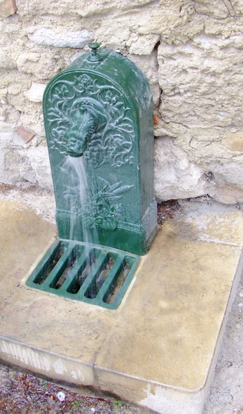 A water spigot at the cathedral in Uzes.