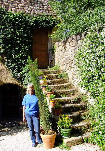 Axel Koehler at our B&B.  She had been a Paris newspaper reporter but now worked very hard on their landscaping.