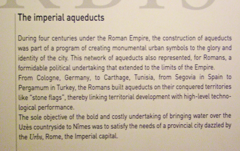 Aquaducts were considered monumental urban symbols during the Roman era.