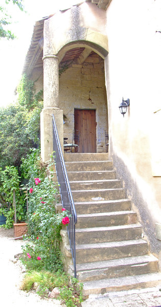 Entrance to our B&B near the Pont Du Gard. This was built in about 1793, the year of the French Revolution.