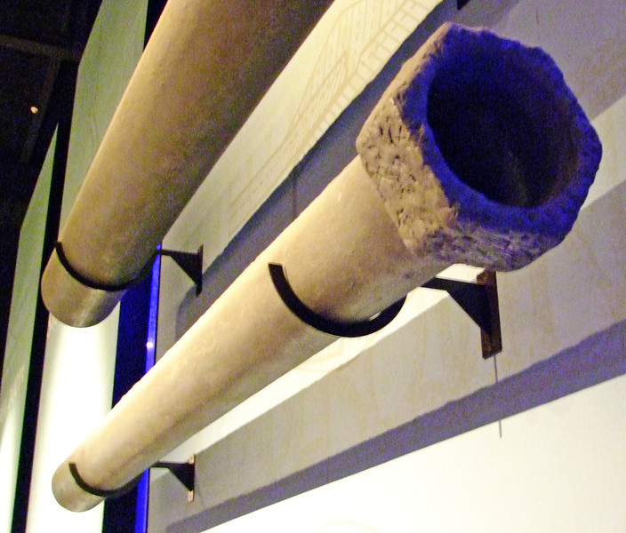 Pipes similar to those used in Nimes 2,000 years ago to distribute water from the aquaduct.