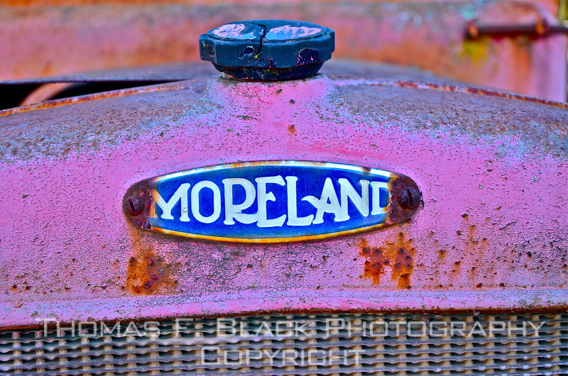 This and seven frames following, 1929 Moreland truck. Moreland trucks were built in Burbank, CA, between 1920 and 1941. They were sold primarily in the 11 western states. The brand is named after the manufacturer's founder, Watt Moreland. [UFP011212]