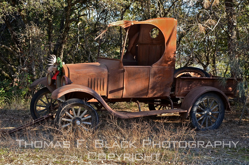 This and three frames following, 1920s Ford pickup truck. [UFP011212]